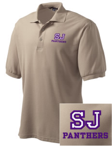Saint John's Lutheran School Panthers Embroidered Tall Men's Silk Touch Polo