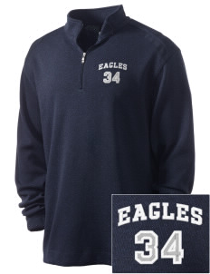 Moulton-Udell Community School Eagles Embroidered Nike Men's Golf Heather Cover Up