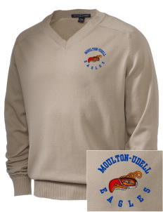 Moulton-Udell Community School Eagles Embroidered Men's V-Neck Sweater