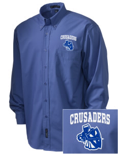 Community Christian School Crusaders  Embroidered Men's Easy Care, Soil Resistant Shirt