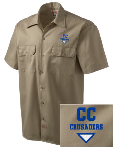 Community Christian School Crusaders Embroidered Dickies Men's Short-Sleeve Workshirt