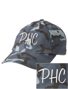 Pacific Harbor Christian School Mariners Embroidered Camouflage Cotton Cap