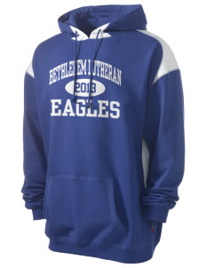 Bethlehem Lutheran School Eagles Men's Pullover Hooded Sweatshirt with Contrast Color