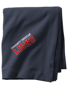 Community Christian School Lions  Sweatshirt Blanket