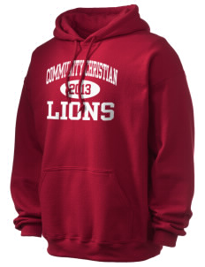 Community Christian School Lions Ultra Blend 50/50 Hooded Sweatshirt