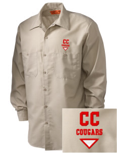 Calvary Christian School Cougars Embroidered Men's Industrial Work Shirt - Regular