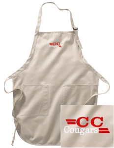 Calvary Christian School Cougars Embroidered Full-Length Apron with Pockets