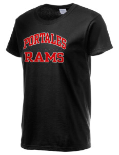 Portales Junior High School Rams Women's 6.1 oz Ultra Cotton T-Shirt