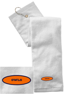 West Seattle Montessori School Globes Embroidered Hand Towel with Grommet