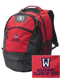 Wilkinson School Lions Embroidered OGIO Rogue Backpack