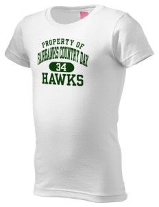 Fairbanks Country Day School Hawks  Girl's Fine Jersey Longer Length T-Shirt