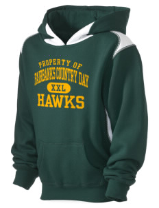 Fairbanks Country Day School Hawks Kid's Pullover Hooded Sweatshirt with Contrast Color