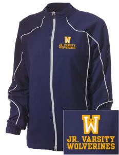 Willamina Middle School Wolverines Embroidered Russell Women's Full Zip Jacket