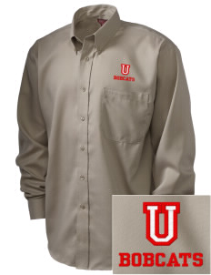 Union High School Bobcats  Embroidered Men's Nailhead Non-Iron Button-Down