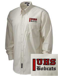 Union High School Bobcats  Embroidered Men's Easy Care, Soil Resistant Shirt