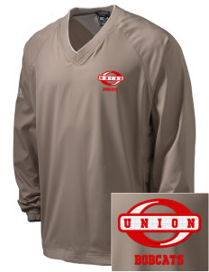 Union High School Bobcats Embroidered adidas Men's ClimaProof V-Neck Wind Shirt