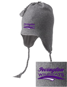 Irvington Elementary School Wildcats Embroidered Knit Hat with Earflaps