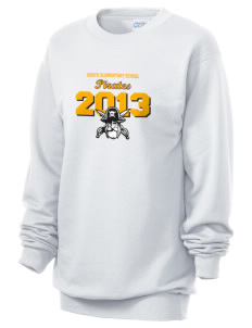 Heath Elementary School Pirates Unisex 7.8 oz Lightweight Crewneck Sweatshirt