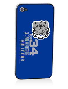 Cooper Whiteside Elementary School Bulldogs Apple iPhone 4/4S Skin
