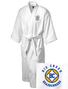 Big Creek Elementary School Roadrunners Embroidered Terry Velour Robe