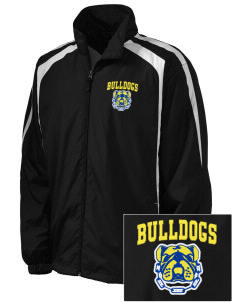 Anatola Elementx1y School Bulldogs Embroidered Men's Colorblock Raglan Jacket