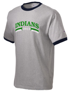 Gazelle Elementary School Indians Champion Men's Ringer T-Shirt