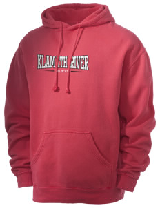 Klamath River Elementary School Wildcats Men's 80/20 Pigment Dyed Hooded Sweatshirt
