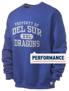 Del Sur School Dragons  Russell Men's Dri-Power Crewneck Sweatshirt