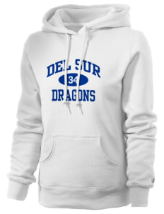 Del Sur School Dragons Russell Women's Pro Cotton Fleece Hooded Sweatshirt