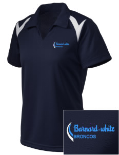 Barnard-White Middle School Broncos Embroidered Holloway Women's Laser Polo