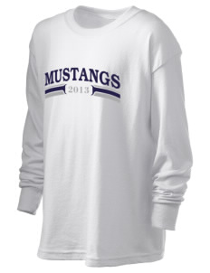 Henry Ford Elementary School Mustangs Kid's 6.1 oz Long Sleeve Ultra Cotton T-Shirt