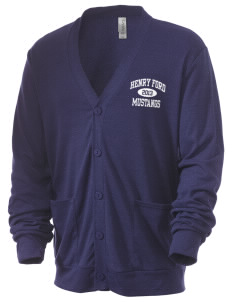 Henry Ford Elementary School Mustangs Men's 5.6 oz Triblend Cardigan