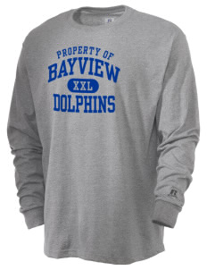 Bayview Elementary School Dolphins  Russell Men's Long Sleeve T-Shirt