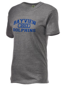 Bayview Elementary School Dolphins Embroidered Alternative Unisex Eco Heather T-Shirt