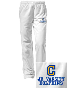 Castro Elementary School Dolphins Embroidered Women's Tricot Track Pants