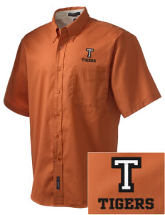 Tom Elementary School Tigers Embroidered Men's Easy Care Shirt