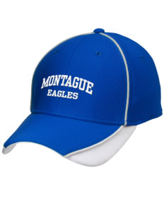 Montague Elementary School Eagles Embroidered New Era Contrast Piped Performance Cap