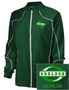 Sheldon Elementary School Grizzlies Embroidered Russell Women's Full Zip Jacket