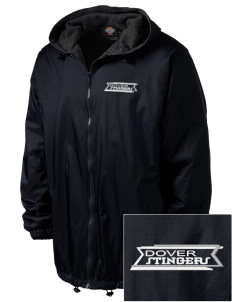 Dover School Stingers Embroidered Dickies Men's Fleece-Lined Hooded Jacket