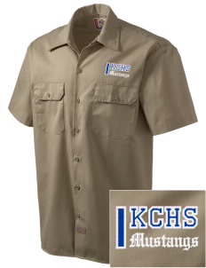 King City High School Mustangs Embroidered Dickies Men's Short-Sleeve Workshirt