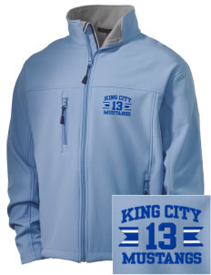 King City High School Mustangs Embroidered Men's Soft Shell Jacket