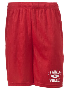 "O B Whaley Elementary School Whales Men's Mesh Shorts, 7-1/2"" Inseam"