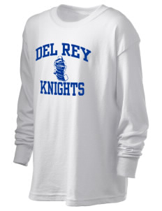 Del Rey Elementary School Knights Kid's 6.1 oz Long Sleeve Ultra Cotton T-Shirt