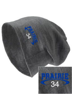 Prairie Elementary School Panthers Embroidered Slouch Beanie