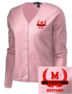 MacDoel Elementary School Mustangs Embroidered Women's Stretch Cardigan Sweater
