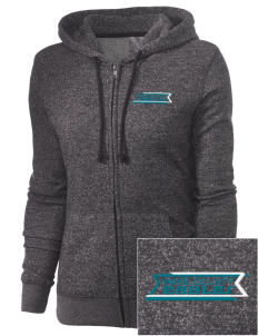 Ware County Magnet School Eagles Embroidered Women's Marled Full-Zip Hooded Sweatshirt