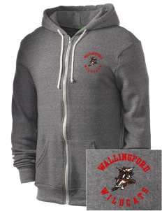 Wallingford Elementary School Wildcats Embroidered Alternative Men's Rocky Zip Hooded Sweatshirt
