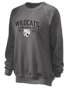 Wallingford Elementary School Wildcats Unisex Alternative Eco-Fleece Raglan Sweatshirt