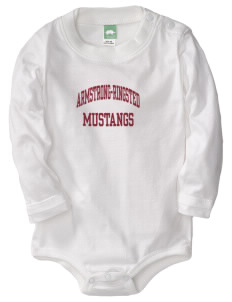 Armstrong-Ringsted Middle School Mustangs  Baby Long Sleeve 1-Piece with Shoulder Snaps