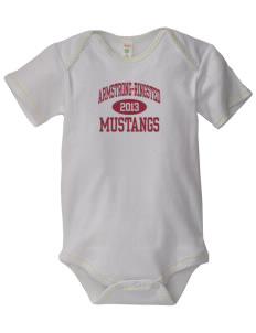 Armstrong-Ringsted Middle School Mustangs Baby Zig-Zag Creeper